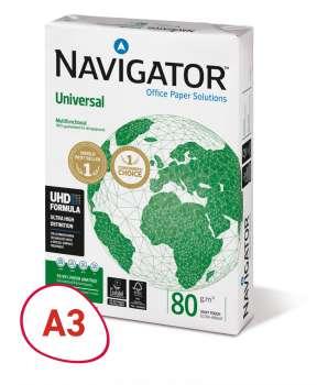Kancelářský papír Navigator Universal - A3, 80 g, 500 listů