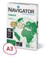 Kancelářský papír Navigator Universal A3 - 80 g/m2, 500 listů