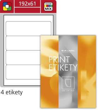 Samolepicí etikety na pořadače SK Label - mix barev, 192 x 61 mm, 400 ks
