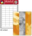 Univerzální etikety S&K Label - bílé, 48,5 x 25,4 mm, 4 000 ks