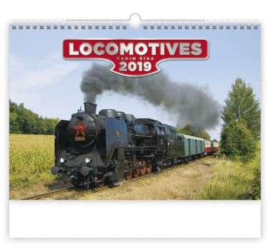Nástěnný kalendář 2018 Locomotives
