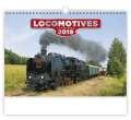 Nástěnný kalendář Locomotives