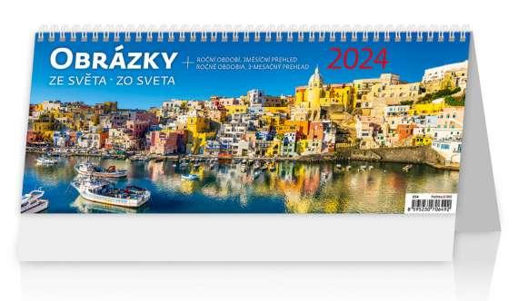Stolní  kalendář 2018  Obrázky ze světa/Obrázky zo sveta