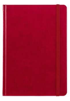 Notes A5 Saturn červený linkovaný
