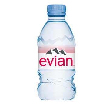 Voda Evian - neperlivá, 24 x 0,33 l