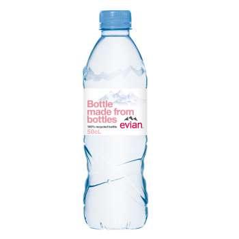 Voda Evian - neperlivá, 24 x 0,5 l