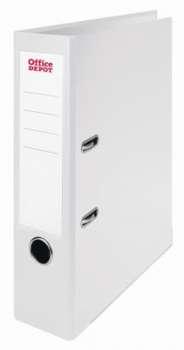 Pákový pořadač Office Depot - A4, s kapsou, kartonový, hřbet 7,5 cm, bílá