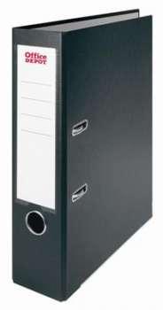 Pákový pořadač Office Depot - A4, s kapsou, kartonový, hřbet 7,5 cm, černý