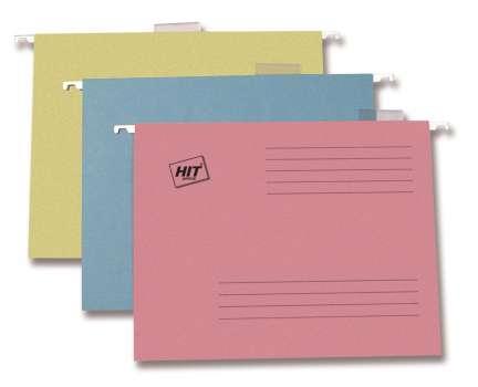 Závěsné rychlovazače  papírové HIT, mix barev, 20 ks