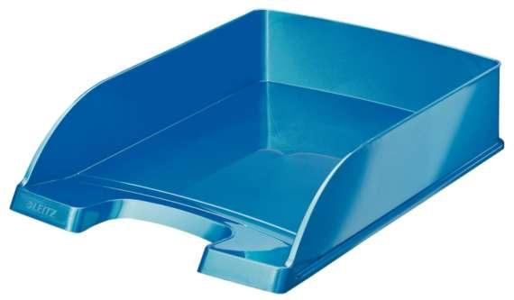 Odkladač Leitz WOW Plus, metalicky modrý