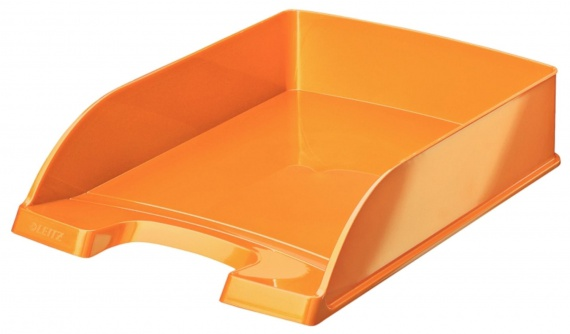 Odkladač Leitz WOW Plus, metalicky oranžová