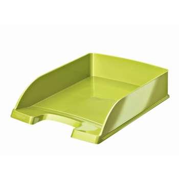 Odkladač Leitz WOW Plus, metalicky zelený
