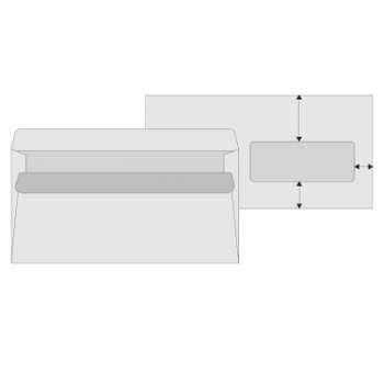 Obálky Office Depot - DL, s okénkem, samolepicí, recyklované, 1000 ks