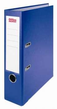 Pákový pořadač Office Depot - A4, s kapsou, kartonový, hřbet 7,5 cm, modrý