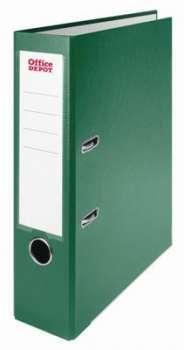 Pákový pořadač Office Depot - A4, s kapsou, kartonový, hřbet 7,5 cm, zelený