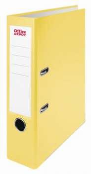 Pákový pořadač Office Depot - A4, s kapsou, kartonový, hřbet 7,5 cm, žlutý