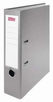 Pákový pořadač Office Depot - A4, s kapsou, kartonový, hřbet 7,5 cm, šedá