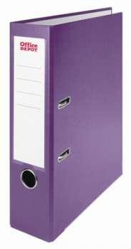 Pákový pořadač Office Depot - A4, s kapsou, kartonový, hřbet 7,5 cm, fialový