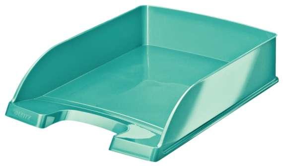 Zásuvka LEITZ WOW - A4, plastová, ledově modrá