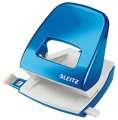 Děrovačka Leitz WOW NeXXt 5008  - 30 listů, kov, metalicky modrá