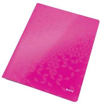 Desky s rychlovazačem WOW, A4 růžová