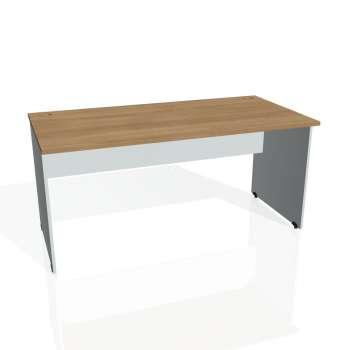 Psací stůl Hobis GATE GS 1600, višeň/šedá