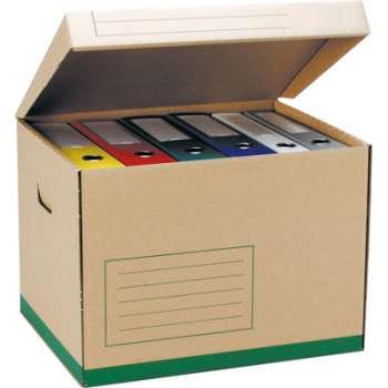 Archivační krabice - 43 x 31 x 34 cm, hnědá, 5 ks