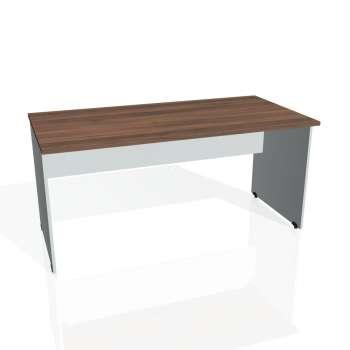 Psací stůl Hobis GATE GS 1600, ořech/šedá