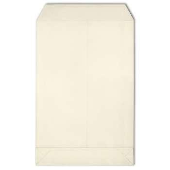 Obchodní tašky s křížovým dnem - B4, bez lepidla, hnědé, 10 ks