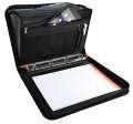 Konferenční desky Exafolder s aktovkou - A4, černé, 7 přihrádek, kapsy, prostor pro notebook