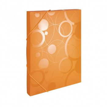 Plastový box s gumičkou NEO COLORI - A4, oranžová