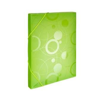 Plastový box s gumičkou NEO COLORI - A4, zelený