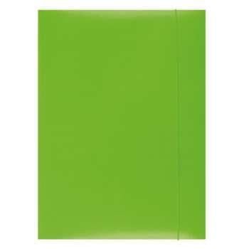 Papírové desky s gumičkou A4, zelená
