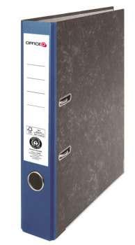 Pákový pořadač Niceday - A4, kartonový, nalepená hřbetní etiketa, šíře hřbetu 5 cm, modrý