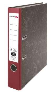 Pákový pořadač Niceday - A4, kartonový, bordó 5 cm hřbet
