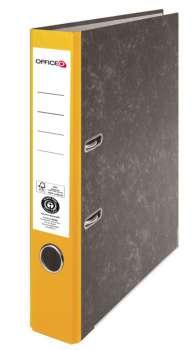 Pákový pořadač Niceday - A4, kartonový, žlutý 5 cm hřbet