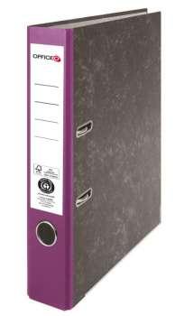 Pákový pořadač Niceday - A4, kartonový, fialová  5 cm hřbet