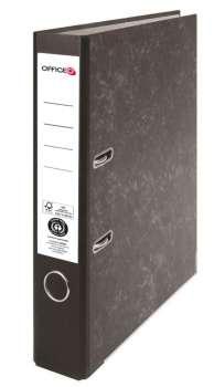 Pákový pořadač Niceday - A4, kartonový, nalepená hřbetní etiketa, šíře hřbetu 5 cm, černý