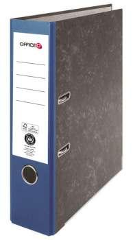 Pákový pořadač Niceday - A4, kartonový, nalepená hřbetní etiketa, šíře hřbetu 7,5 cm, modrý