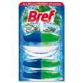Závěsný WC blok Bref Duo Aktiv - borovice, 3 x 60 ml