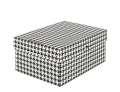 Dekorativní krabice EMBA, černobílá  tisk, 2 ks