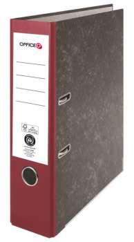 Pákový pořadač Niceday - A4, kartonový, bordó 7,5 cm hřbet