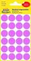 Kulaté etikety Avery Zweckform - průměr 18 mm, růžová