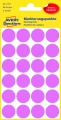 Kulaté etikety Avery Zweckform - růžové, průměr 18 mm, 96 ks