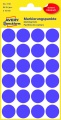 Kulaté etikety Avery, fialové, průměr 18 mm