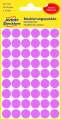 Kulaté etikety Avery Zweckform, růžová, průměr 12 mm