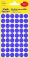Kulaté etikety Avery Zweckform - fialové, průměr 12 mm, 270 ks
