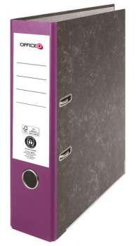 Pákový pořadač Niceday - A4, kartonový, fialový 7,5 cm hřbet