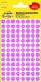 Kulaté etikety Avery Zweckform - průměr 8 mm, růžová