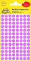Kulaté etikety Avery Zweckform, růžová, průměr 8 mm